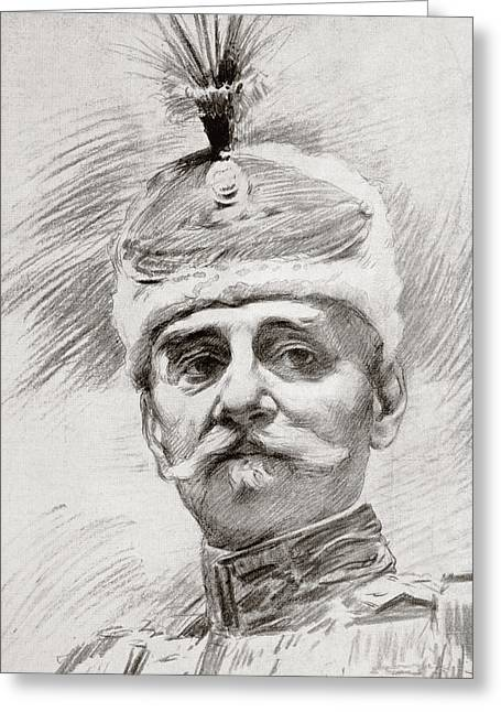 Serbs Greeting Cards - Peter I, 1844   1921, King Of Serbia Greeting Card by Vintage Design Pics