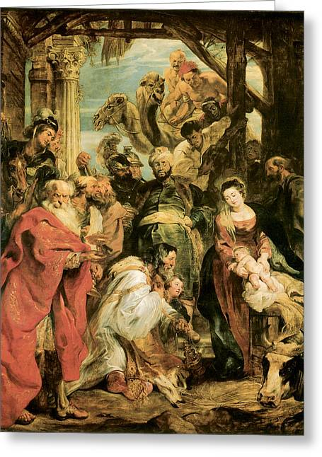 Peter Paul Rubens Greeting Card by The Adoration of the Magi