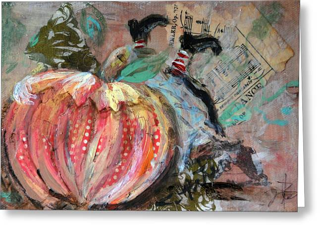 Nursery Rhyme Mixed Media Greeting Cards - Peter Peter  Greeting Card by Jennifer Kelly
