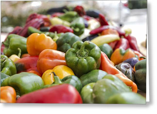 Healthy Greeting Cards - Peter Piper picked a peck of pickled peppers Greeting Card by LeeAnn White