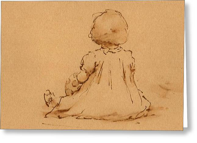 Precious Baby Greeting Cards - Petite Fille Greeting Card by Thor Wickstrom