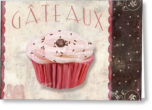 Cupcakes Greeting Cards - Petits Gateaux Greeting Card by Mindy Sommers