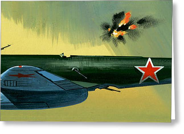 Petlyakov Pe2 Russian Bomber Greeting Card by Wilf Hardy