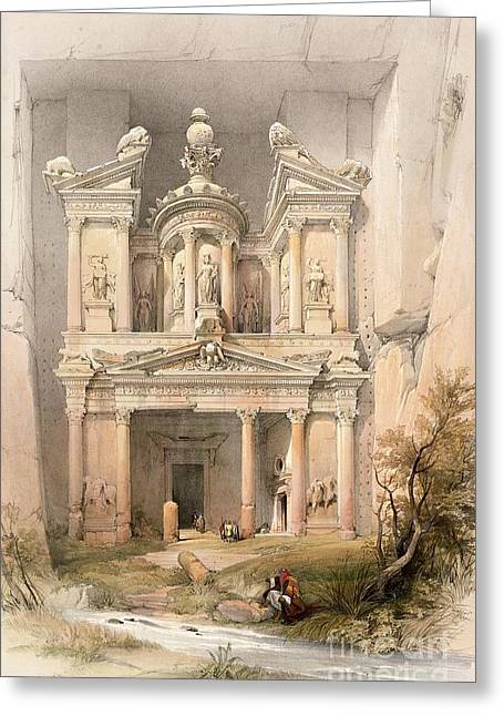 March Paintings Greeting Cards - Petra Greeting Card by David Roberts