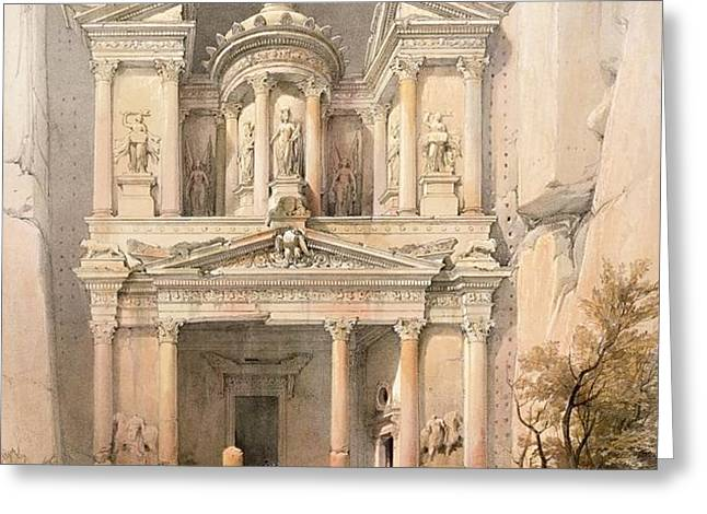 Petra Greeting Card by David Roberts