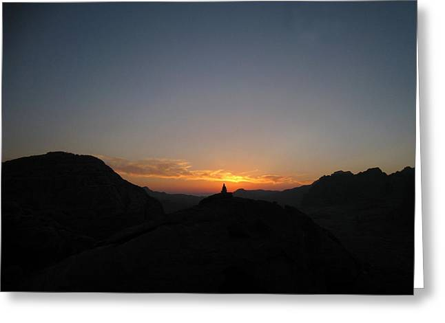 Petra Greeting Cards - Petra sunset Greeting Card by Arvind Garg