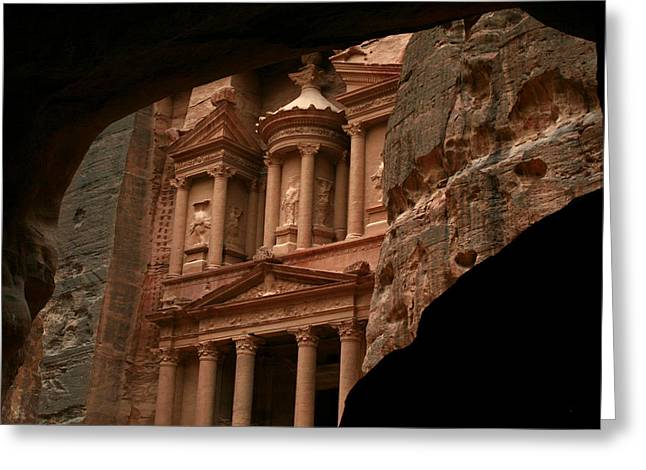 Petra Greeting Cards - Petra The Red Rose Old City Greeting Card by Ziyad Mihyar