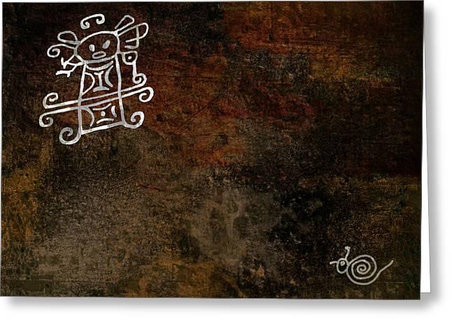 Petroglyph 8 Greeting Card by Bibi Romer