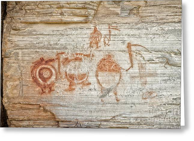 Aboriginal Ancestry Greeting Cards - Petroglyph and Pictographs II Greeting Card by Jamie Tipton