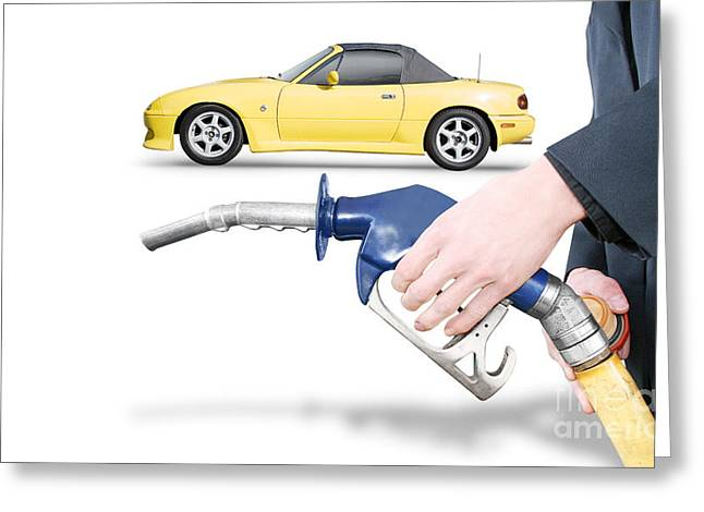 Petrol Station Greeting Cards - Petrol Bowser Pump Greeting Card by Ryan Jorgensen
