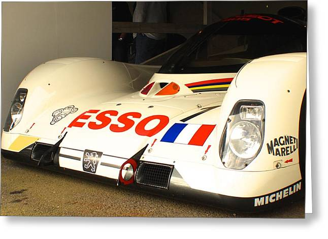Before The Races Greeting Cards - Peugeot 905 Evo 1 Greeting Card by Robert Phelan