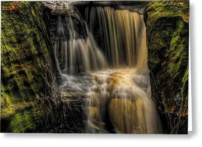 Square Format Greeting Cards - Pewits Nest Middle Falls Square Greeting Card by Dale Kauzlaric