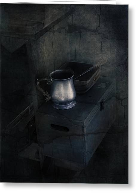 Table Greeting Cards - Pewter Greeting Card by Dorothy Miller