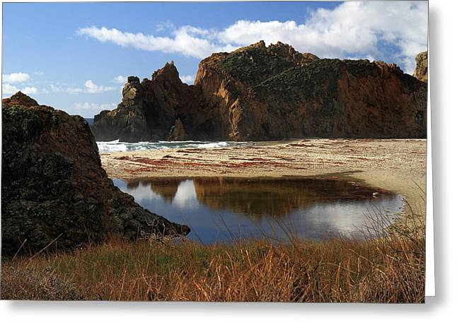 Pfeiffer Beach Landscape In Big Sur Greeting Card by Pierre Leclerc Photography