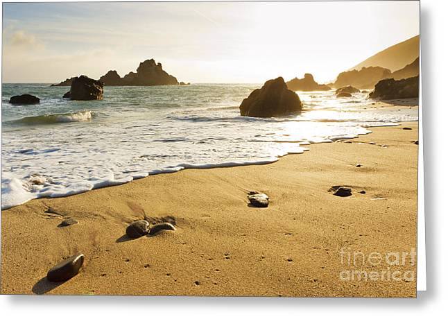 Best Sellers -  - Pfeiffer Beach Greeting Cards - Pfeiffer Burns Beach Greeting Card by MakenaStockMedia