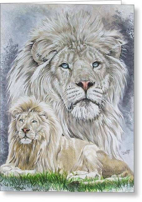 Wildcats Drawings Greeting Cards - Phantasy Greeting Card by Barbara Keith