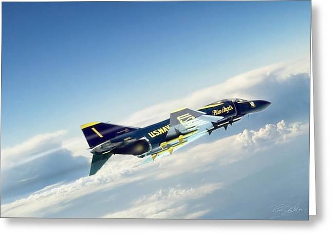 Usn Greeting Cards - Phantom Angel 2 Greeting Card by Peter Chilelli