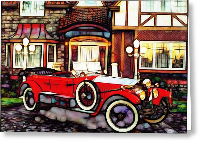 Mario Carini Greeting Cards - Phantom Rolls Royce 1935 Greeting Card by Mario Carini