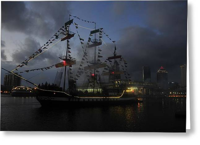 Pirates Greeting Cards - Phantom ship Greeting Card by David Lee Thompson