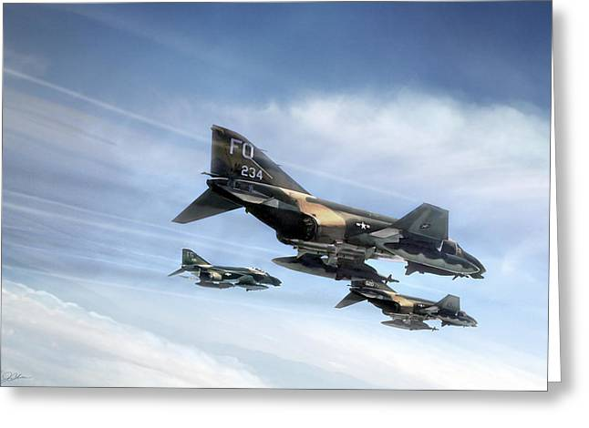Phantom Strike Force Greeting Card by Peter Chilelli