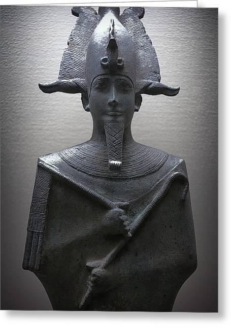 Pharaoh Of Egypt Greeting Card by Daniel Hagerman