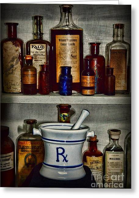 Drugstore Greeting Cards - Pharmacy - Stocked Shelves Greeting Card by Paul Ward