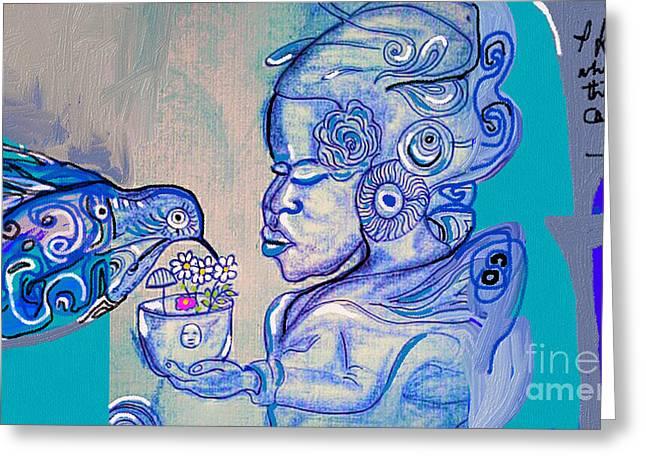 Phenomenal  Maya Greeting Card by Jackie Pecoroni