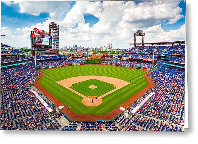 Citizens Bank Park Prints Greeting Cards - Philadelphia Phillies Greeting Card by Aaron Couture