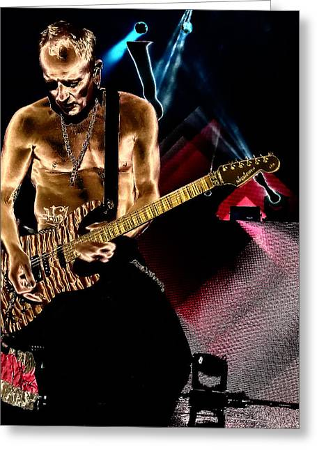 Phil Collen Of Def Leppard 3 Greeting Card by David Patterson