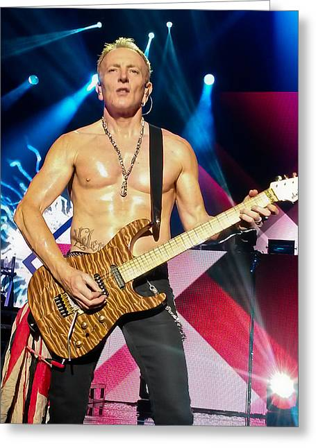 Phil Collen Of Def Leppard 5 Greeting Card by David Patterson