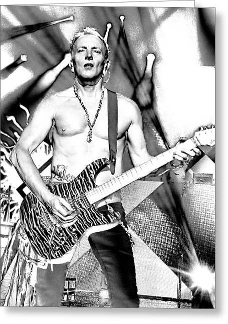 Phil Collen With Def Leppard Greeting Card by David Patterson