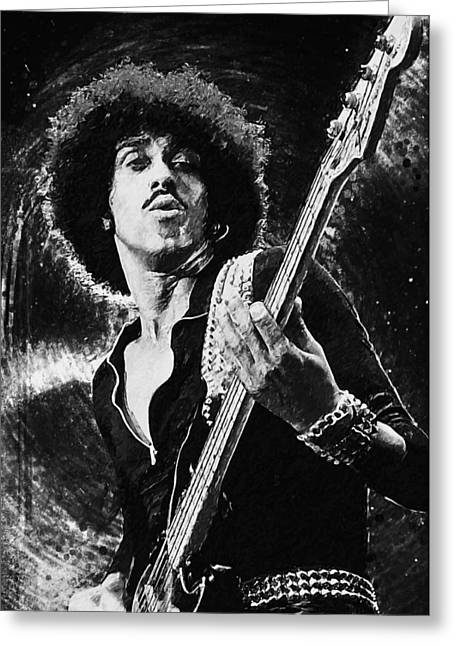 Phil Lynott Greeting Card by Taylan Soyturk