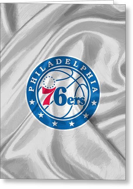 Philadelphia 76ers Greeting Card by Afterdarkness