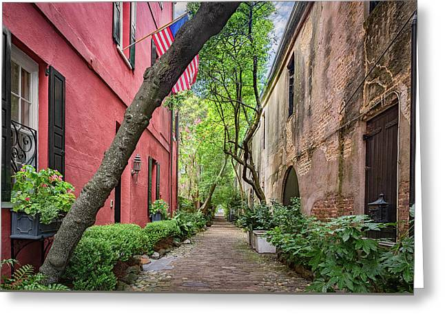 South Philadelphia Greeting Cards - Philadelphia Alley  Greeting Card by Drew Castelhano
