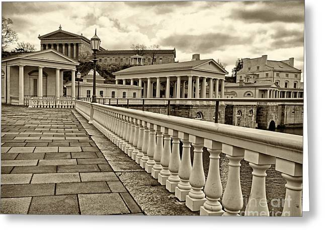 Philadelphia Art Museum Greeting Cards - Philadelphia Art Museum 1 Greeting Card by Jack Paolini