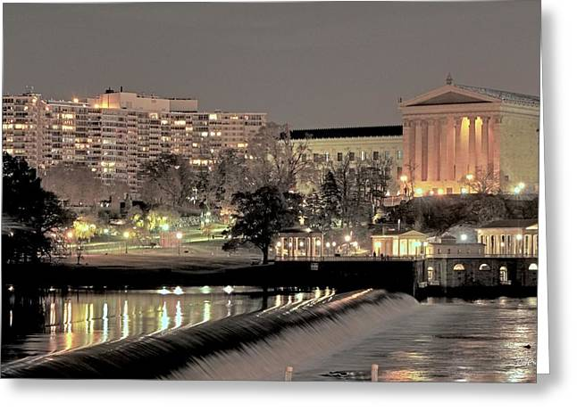 Philadelphia Art Museum In Pastel Greeting Card by Deborah  Crew-Johnson
