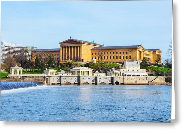 Greeting Cards - Philadelphia Art Museum View Greeting Card by Bill Cannon