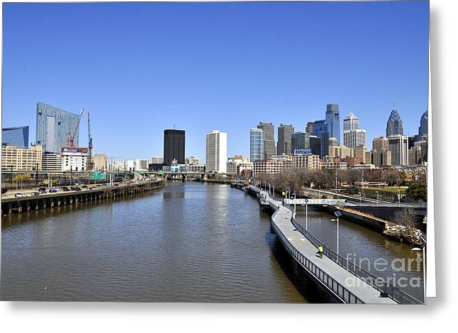 South Philadelphia Greeting Cards - Philadelphia Boardwalk Greeting Card by Andrew Dinh