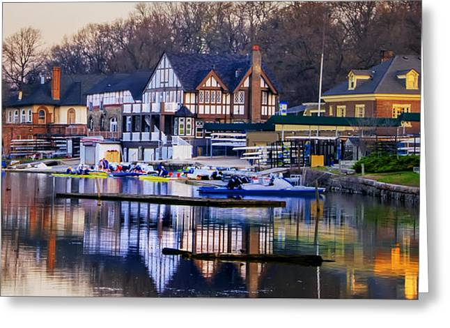 Philadelphia - Boathouse Row On The Schuylkill River Greeting Card by Bill Cannon