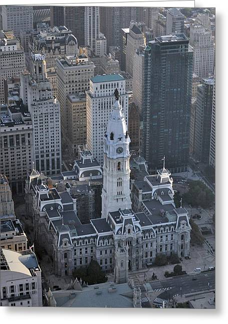 Philadelphia City Hall 0443 Greeting Card by Duncan Pearson