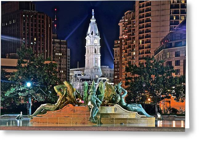 Philadelphia City Hall Greeting Card by Frozen in Time Fine Art Photography