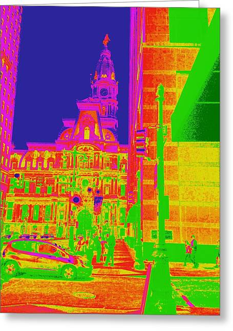 Philadelphia City Hall Greeting Card by Marla McPherson