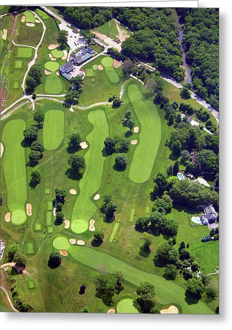 6075 W Valley Green Rd Greeting Cards - Philadelphia Cricket Club Holes 1 2 3 10 11 17 and 18 Greeting Card by Duncan Pearson