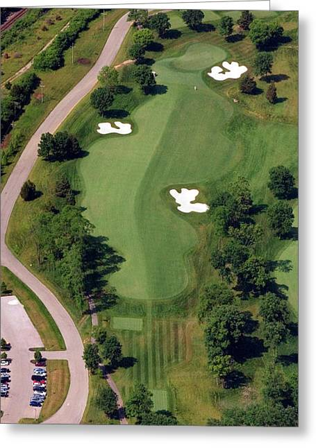 Aerials Of Philly Cricket Greeting Cards - Philadelphia Cricket Club Militia Hill Golf Course 10th Hole Greeting Card by Duncan Pearson
