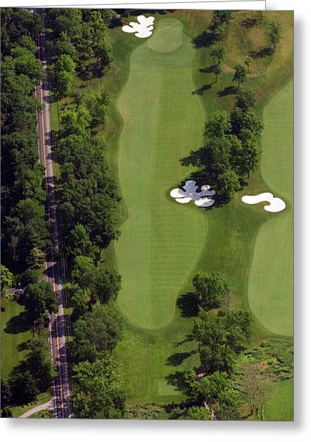 Golf Design Greeting Cards - Philadelphia Cricket Club Militia Hill Golf Course 13th Hole Greeting Card by Duncan Pearson