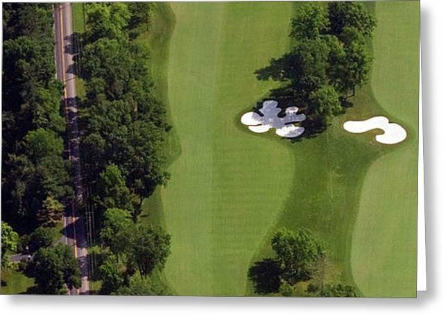 Philadelphia Cricket Club Militia Hill Golf Course 13th Hole Greeting Card by Duncan Pearson