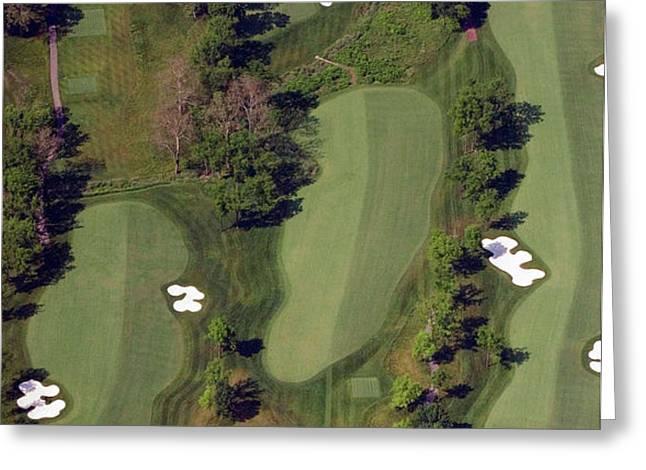 Philadelphia Cricket Club Militia Hill Golf Course 18th Hole Greeting Card by Duncan Pearson