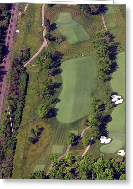Philadelphia Cricket Club Militia Hill Golf Course 2nd Hole Greeting Card by Duncan Pearson