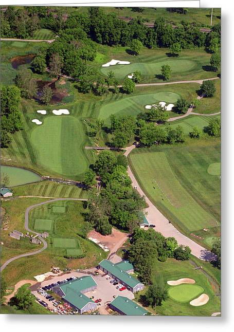 Aerials Of Philly Cricket Greeting Cards - Philadelphia Cricket Club Militia Hill Golf Course 4th Hole Greeting Card by Duncan Pearson