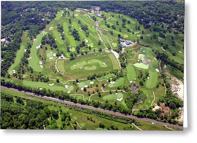 6075 W Valley Green Rd Greeting Cards - Philadelphia Cricket Club Militia Hill Golf Course Holes 3 4 5 6 7 8 and 9 Greeting Card by Duncan Pearson